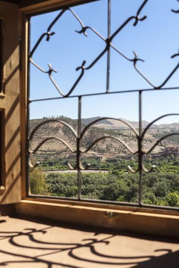 A View of the Ourika Valley as Glimpsed Through the Window of a Traditional Berber House-Charlie Harding-Photographic Print