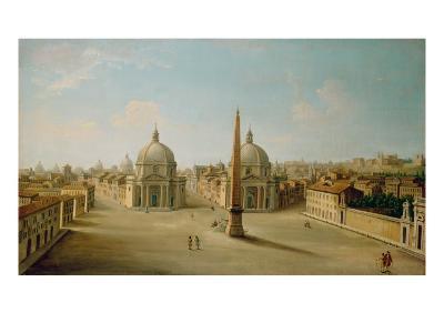 A View of the Piazza Del Popolo-Antonio Joli-Giclee Print