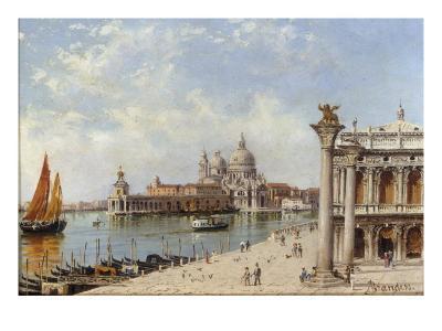 A View of the Piazzetta and Santa Maria della Salute, Venice-Antonietta Brandeis-Giclee Print