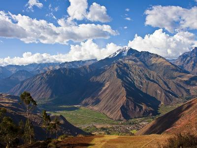 A View of the Sacred Valley and Andes Mountains of Peru, South America-Miva Stock-Photographic Print