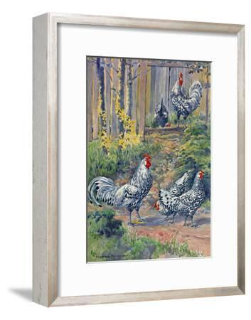 A View of the Silver Spangled Variety of Hamburgs-Hashime Murayama-Framed Giclee Print