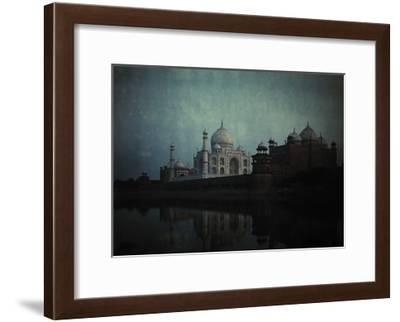 A View of the Taj Mahal on the Jumna River at Sunset-Gervais Courtellemont-Framed Photographic Print
