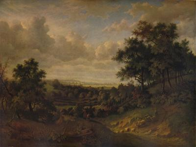 A View of the Thames: Greenwich in the distance, 1820-Patrick Nasmyth-Giclee Print