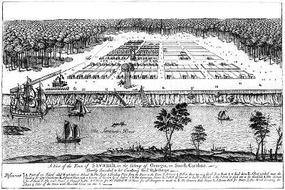 A View of the Town of Savanah, in the Colony of Georgia, South Carolina, 1741--Giclee Print