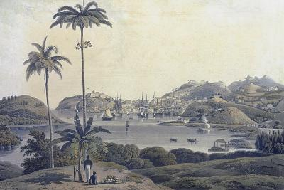 A View of the Town of St. George on the Island of Grenada, Taken from the Belmont Estate,…-Lieutenant-Colonel J. Wilson-Giclee Print