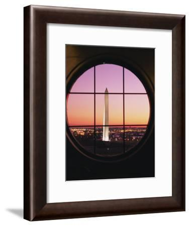 A View of the Washington Monument at Sunset Taken from the Willard Hotel-Richard Nowitz-Framed Photographic Print