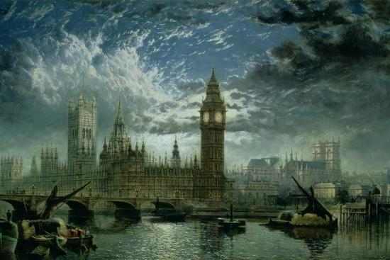 A View of Westminster Abbey and the Houses of Parliament, 1870-John Macvicar Anderson-Giclee Print