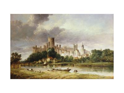 A View of Windsor Castle from the Brocas Meadows-Alfred Vickers-Giclee Print