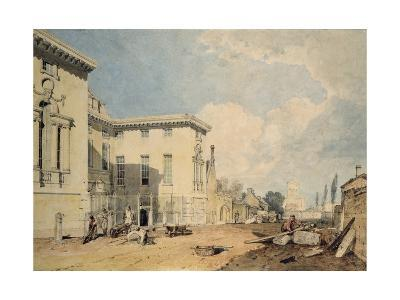 A View of Worcester College, 1803-04 (W/C over Graphite on Off-White Paper)-J^ M^ W^ Turner-Giclee Print