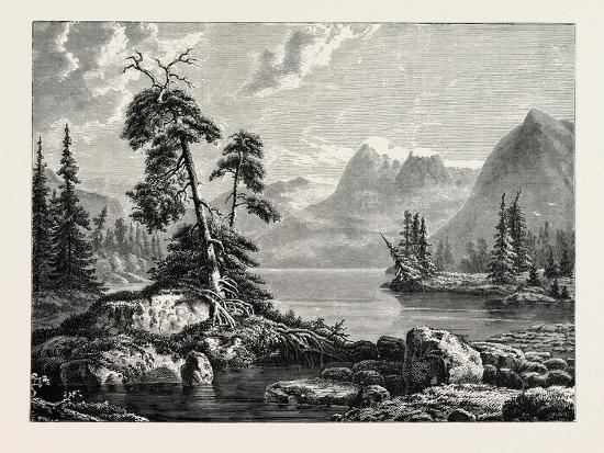 A View on the Hardanger Fjord--Giclee Print
