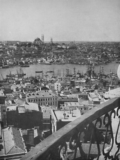 'A view over Constantinople showing the Mosque of Santa Sophia', 1913-Unknown-Photographic Print