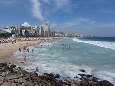 A View Over Leblon and Ipanema Beaches in Rio De Janeiro-Alex Saberi-Photographic Print
