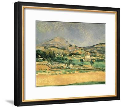 A View Over Mont St. Victoire-Paul Cézanne-Framed Art Print