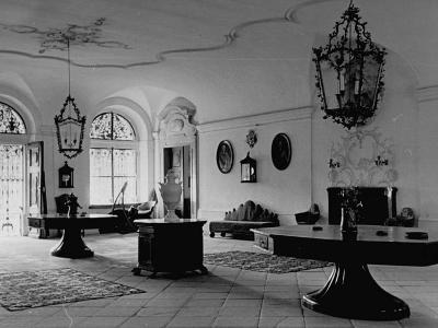 A View Showing the Entrance Hall at Leopoldskron, the Home of Max Reinhardt-John Phillips-Premium Photographic Print