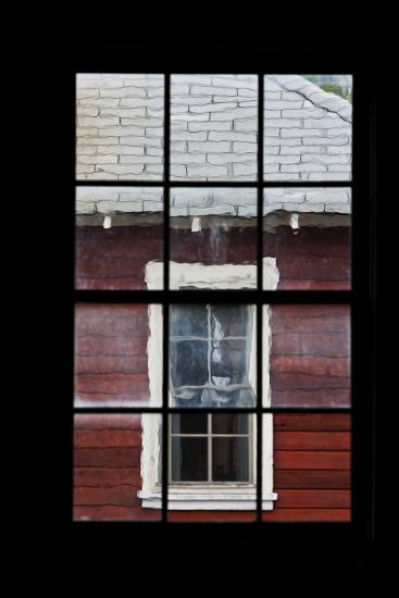 A View Through a Window at the Abandoned Kennecott Copper Mine-Marc Moritsch-Photographic Print