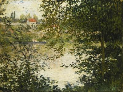 A View Through the Trees of La Grande Jatte Island-Claude Monet-Giclee Print