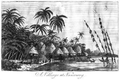 A Village at Nancowry, Nicobar Islands, 1799--Giclee Print