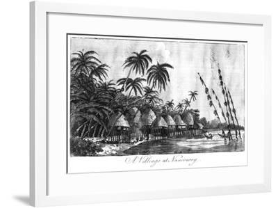 A Village at Nancowry, Nicobar Islands, 1799--Framed Giclee Print