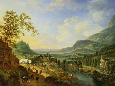 A Village Fete in the Rhine Valley-Jan The Elder Griffier-Giclee Print
