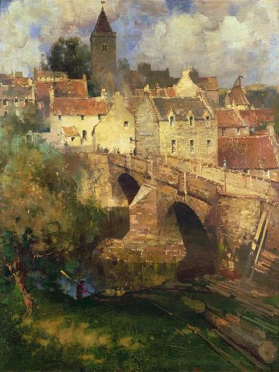 A Village in East Linton, Haddington-James Paterson-Giclee Print