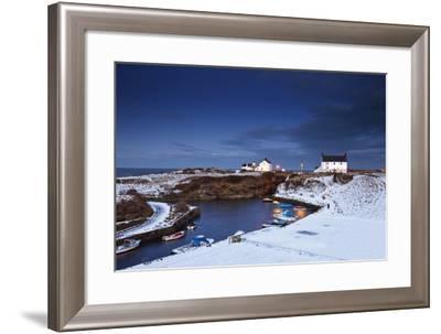 A Village on the Coast; Seaton Sluice, Northumberland, England-Design Pics Inc-Framed Photographic Print