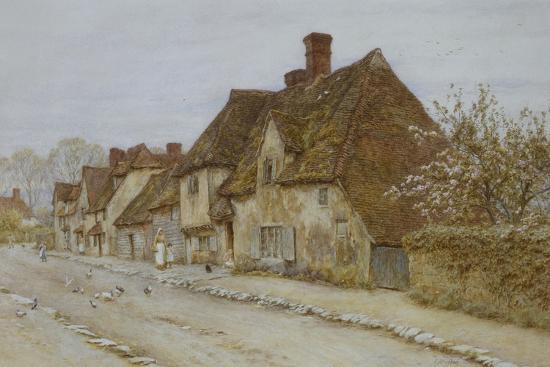 A Village Street, Kent-Helen Allingham-Giclee Print
