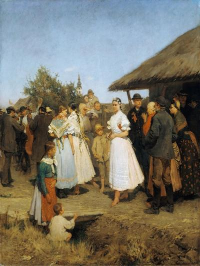 A Village Wedding in Hungary-Lajos Deák-Ebner-Giclee Print