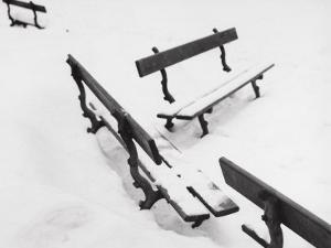 Benches Covered with Snow by A. Villani