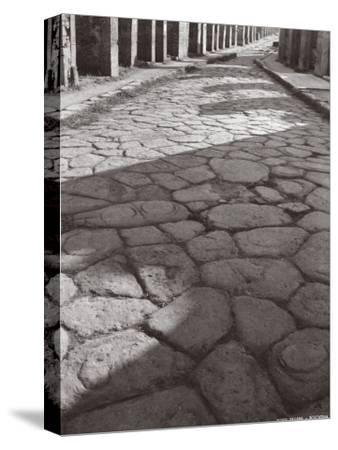 Cobbled Pavement of a Street in Pompei