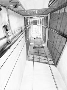 Elevator Shaft of the C.E.A.M. Factory in Calderara Di Reno, Bologna by A. Villani