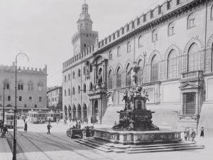 Fountain of Neptune or the Giant in Piazza Del Nettuno in Bologna by A. Villani