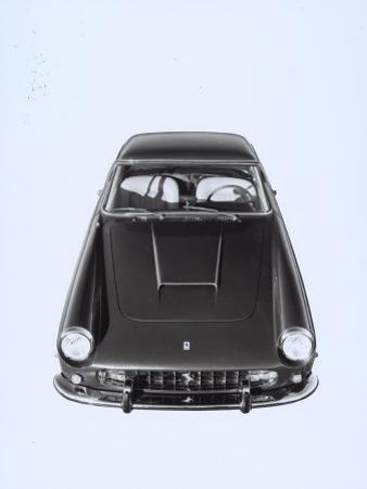 Frontal and Top View of a Ferrari Automobile