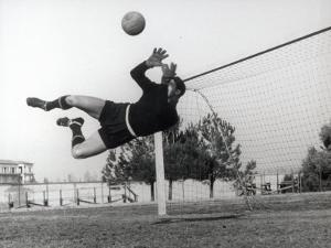 Goalkeeper Diving to Make a Save by A. Villani