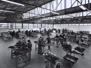 Laboratory at State Run Professional Institute for the Industrialist and Artisan Alfredo Ferrari by A. Villani