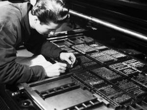 Printer at the Newspaper Printing Facility of the Daily Il Resto Del Carlino of Bologna by A. Villani