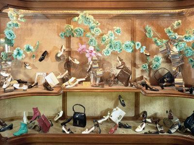 Shop Windown with Footwear and Bags by Beltrami