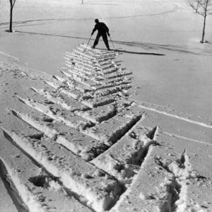 Ski Tracks in the Snow by A. Villani