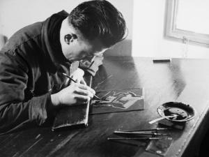 Worker at the Newspaper Printing Facility of the Daily Il Resto Del Carlino of Bologna by A. Villani