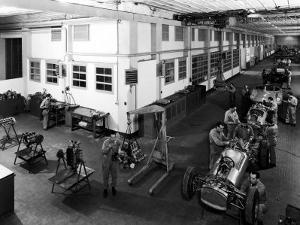 Workers Assembling Car Motors in the Ferrari Factory by A. Villani