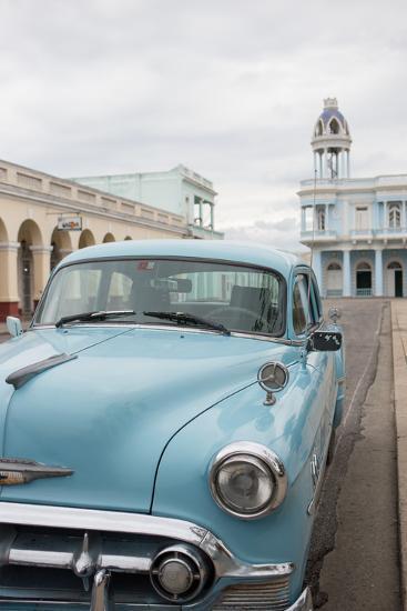 A Vintage Chevrolet in Plaza Jose Marti, Cienfuegos, Cuba-Erika Skogg-Photographic Print