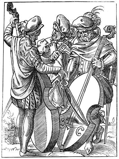 A Violinist and Two Cellists, 16th Century-Jost Amman-Giclee Print