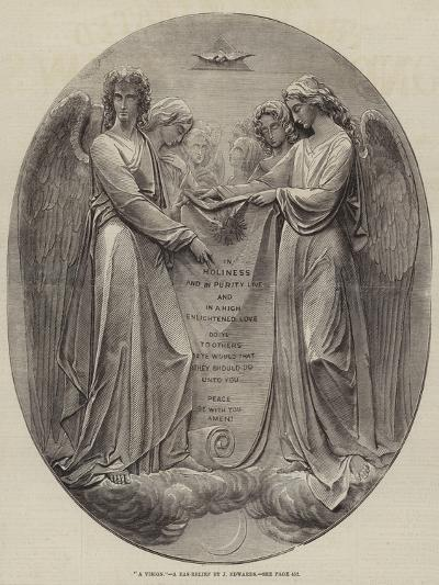 A Vision, a Bas-Relief by J Edwards--Giclee Print