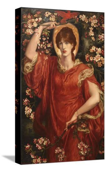 A Vision of Fiammetta, 1878-Dante Gabriel Rossetti-Stretched Canvas Print