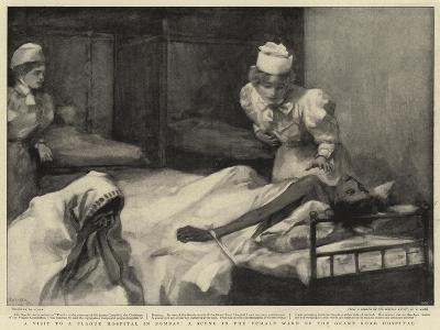 A Visit to a Plague Hospital in Bombay, a Scene in the Female Ward of the Grant Road Hospital--Giclee Print