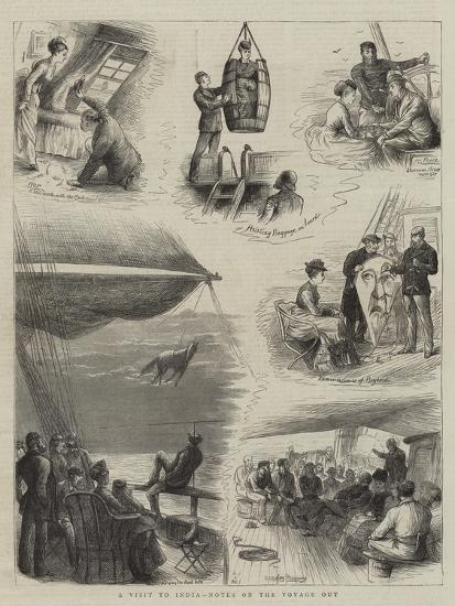 A Visit to India, Notes on Voyage Out-William Ralston-Giclee Print