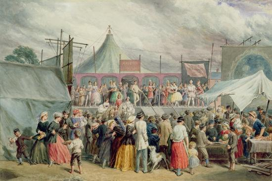 A Visit to the Circus, C.1885-Charles Green-Giclee Print