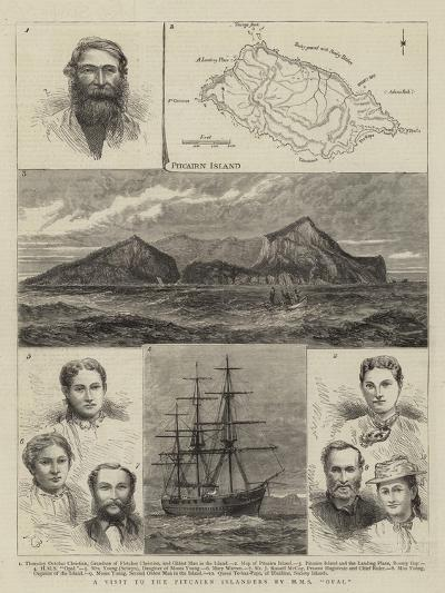 A Visit to the Pitcairn Islanders by HMS Opal--Giclee Print