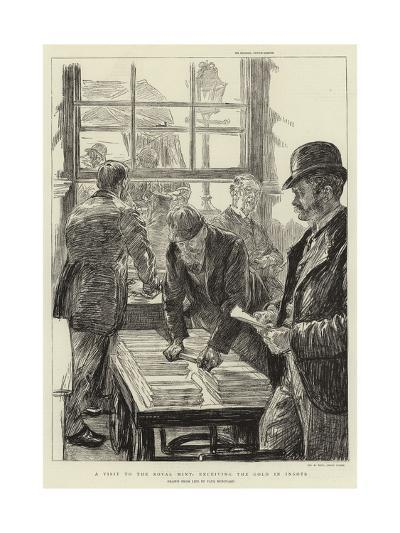 A Visit to the Royal Mint, Receiving the Gold in Ingots-Charles Paul Renouard-Giclee Print