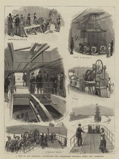 A Visit to the Telegraph Construction and Maintenance Company's Works, East Greenwich--Giclee Print