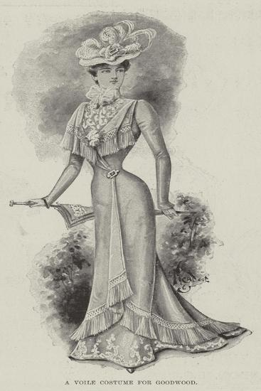 A Voile Costume for Goodwood--Giclee Print